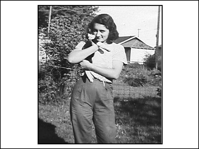 Frances with cat