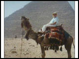 Mary on camel ride in Egypt