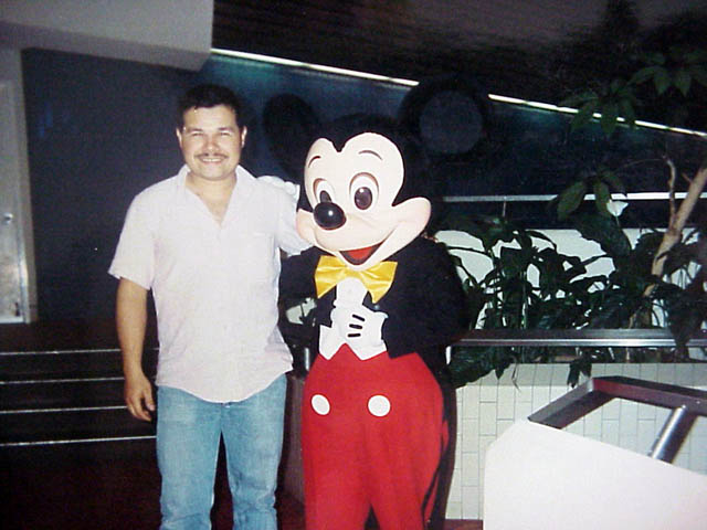 With Mickey Mouse