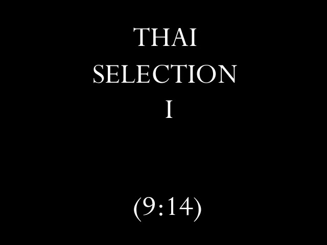 Thai Selection I