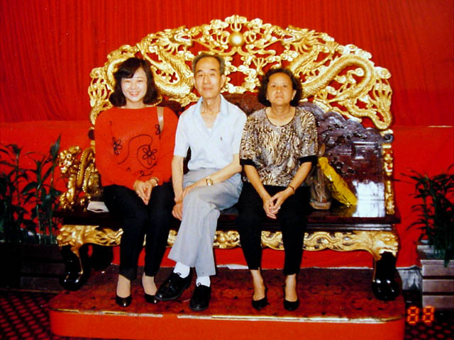 Wei With Wife and Daughter