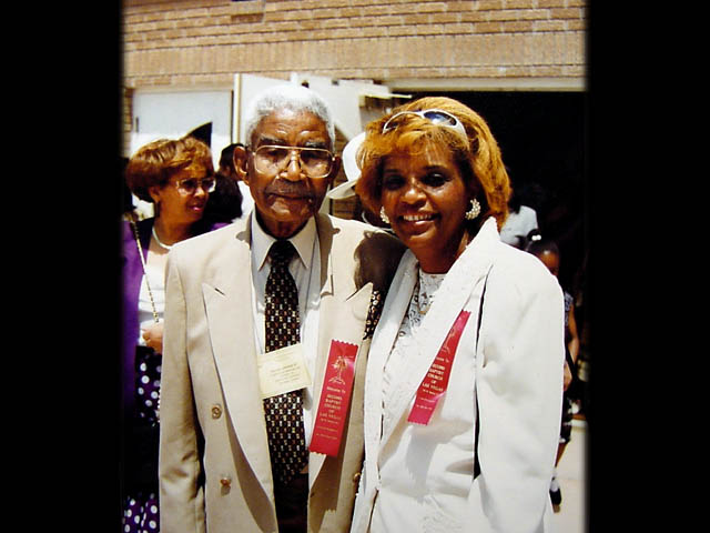 With Father, Grover Johnson Sr