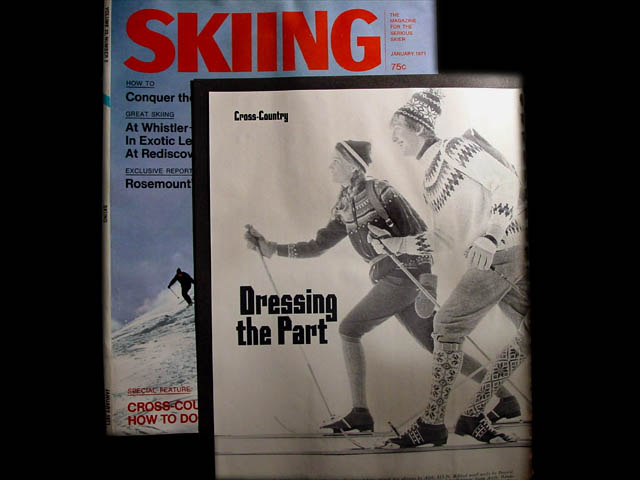 Modeling for Skiing Magazine