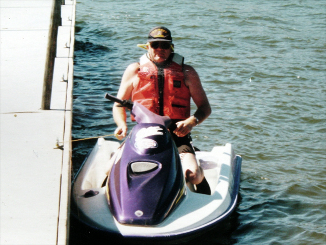Having fun on the SeaDoo